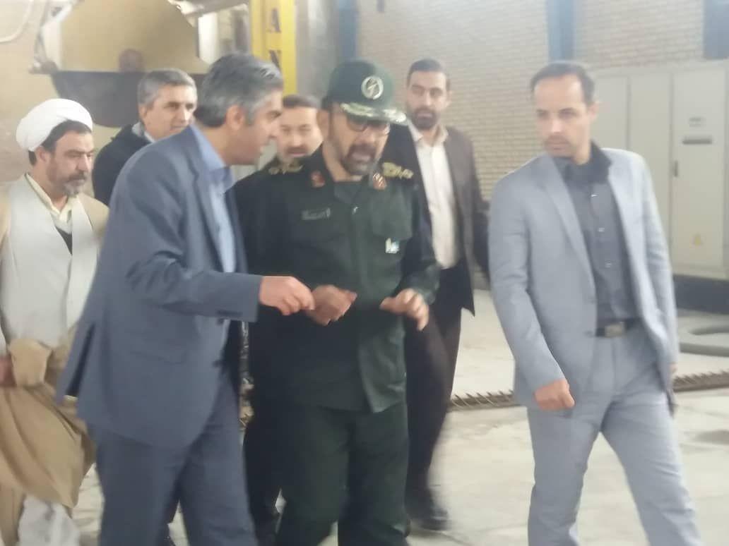 بازدید سردار نظری فرمانده سپاه از شهرک صنعتی کاویان